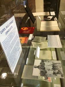 This display of diaries, writings, photographs, and ephemera on the 5th floor of the Healey Library reveals the accomplishments and insights of activist and self-defense educator Carol McEldowney.