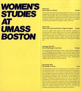 Women's Studies course listing brochure, 1981-1982.