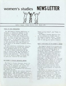 Women's Studies newsletter, 1981.