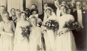 Wedding of Robert and Arabella Bellamy (photo contributed to the Mass. Memories Road Show by Robert Severy), September 24, 1913
