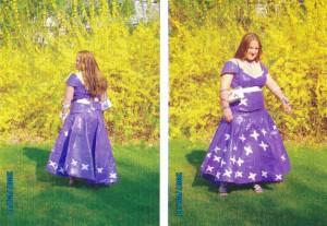 Duct tape prom dress, 2007.