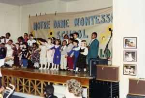 25th anniversary celebration at Notre Dame Montessori School, 1994. Contributor: Sister Elizabeth Calcagni.