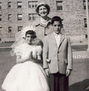 Conways after First Communion, St. Christopher's Church. 1950s