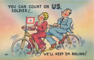 Bicycling postcard. Image Source: UASC-SC-0208-TBD