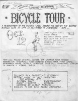 "Sharon's Bicentennial Bicycle Tour: Re-enactment of the Historic ""Wheel Around the Hub,"" flyer, 1965"