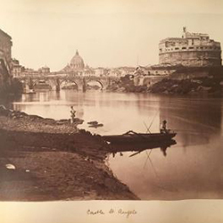 photo of Castel Sant'Angelo from an 1882 album compiled by Fanny Sedgewick Pomeroy