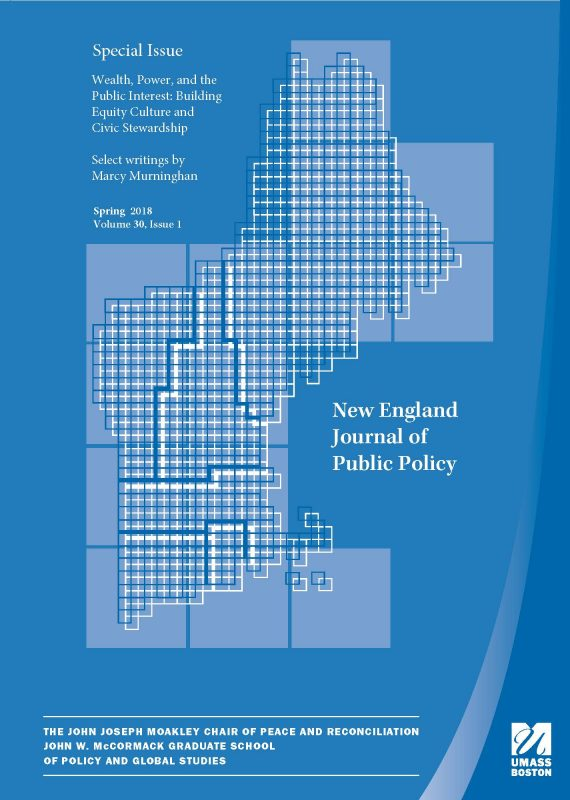 Cover for Special 2018 Issue of the New England Journal of Public Policy