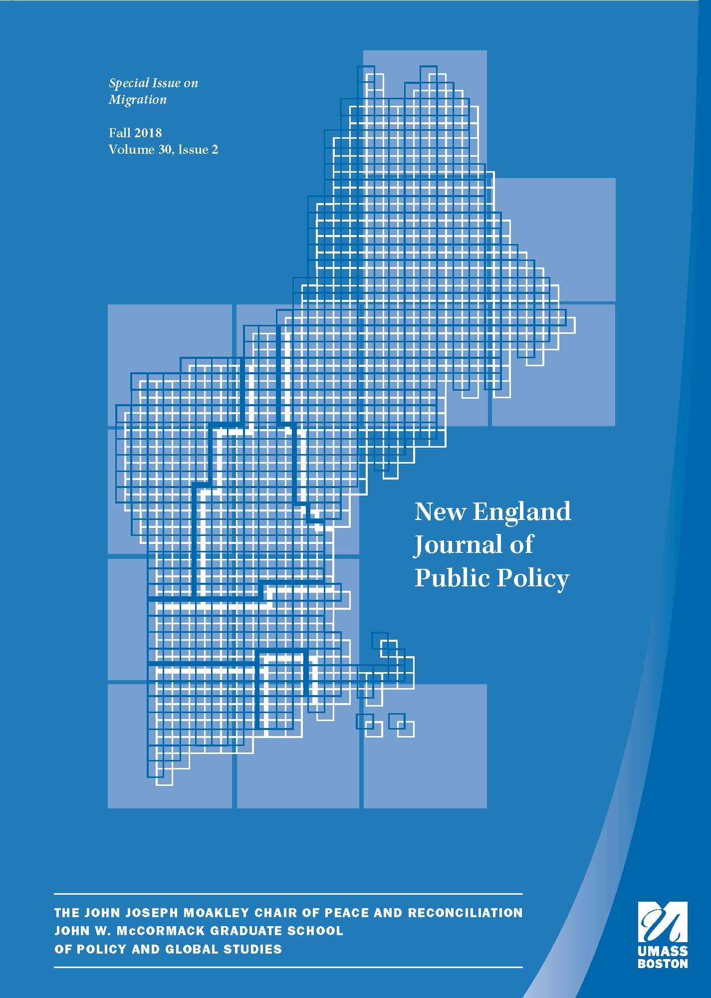 Blue cover of New England Journal of Public Policy