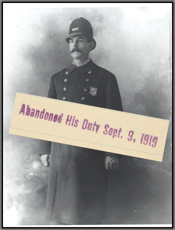 Abandoned His Duty Sept. 9, 1919