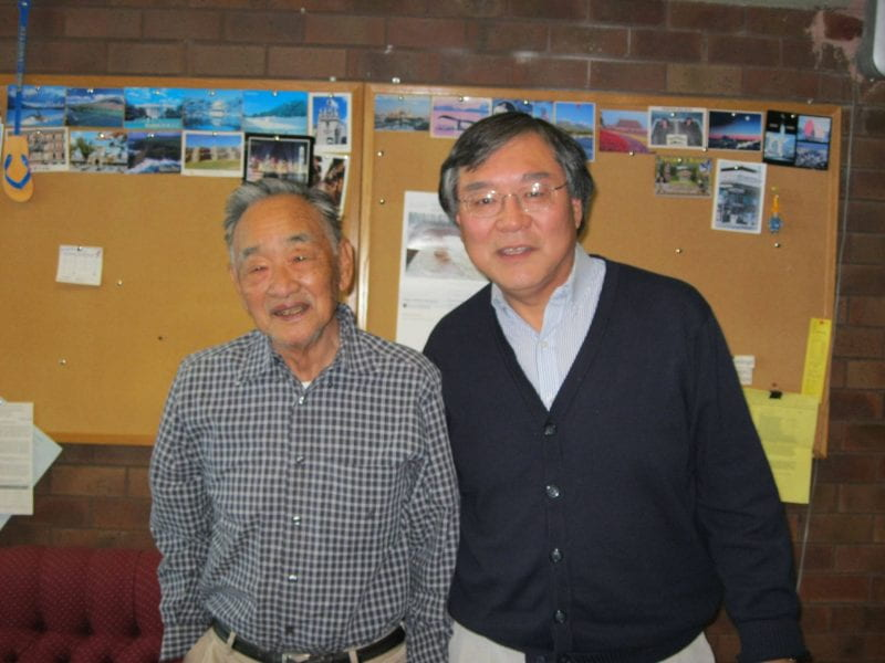 Gordon Sato on left with interviewer Dr. Paul Watanabe.