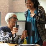 OLLI Scholar Cindy Bui with student Rhonda Holyoke.