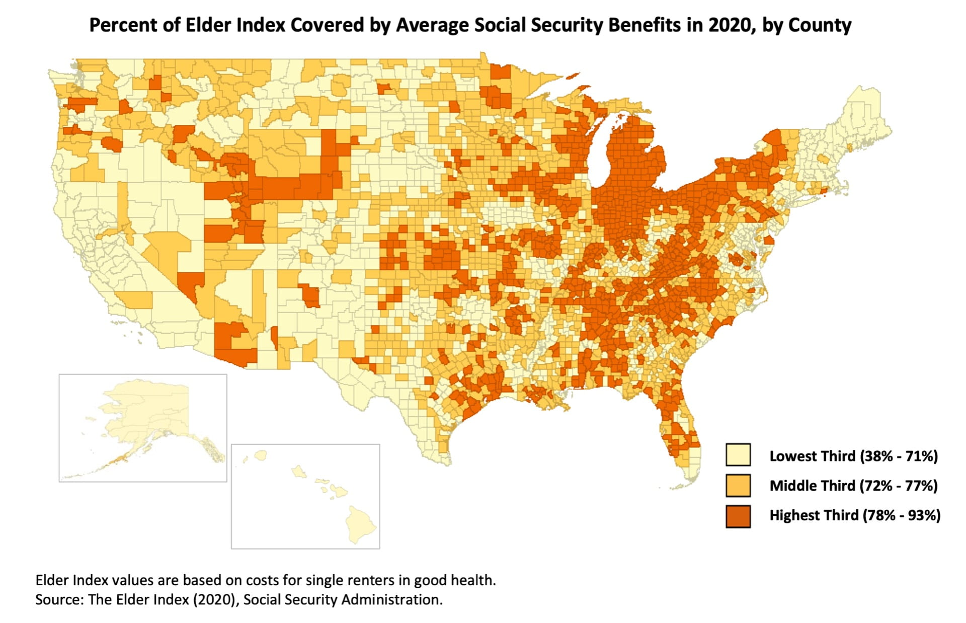 Social Security coverage map