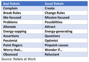 traits of bad rebels vs good rebels
