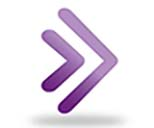 Blackboard Collaborate logo, two purple arrows pointing right