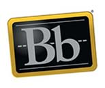 Blackboard Learn logo, a chalkboard with Bb in the middle