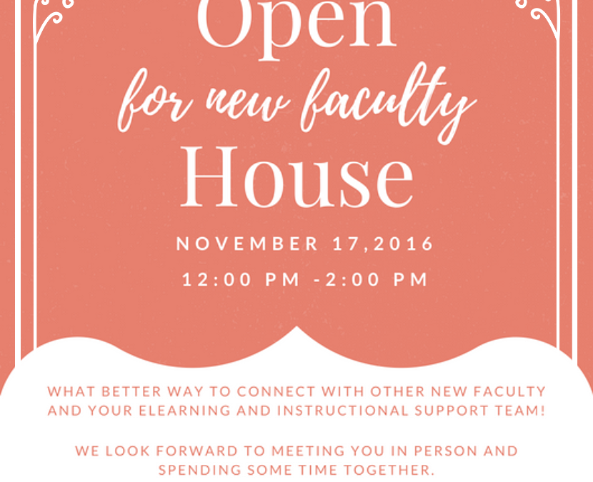 Open House for new faculty