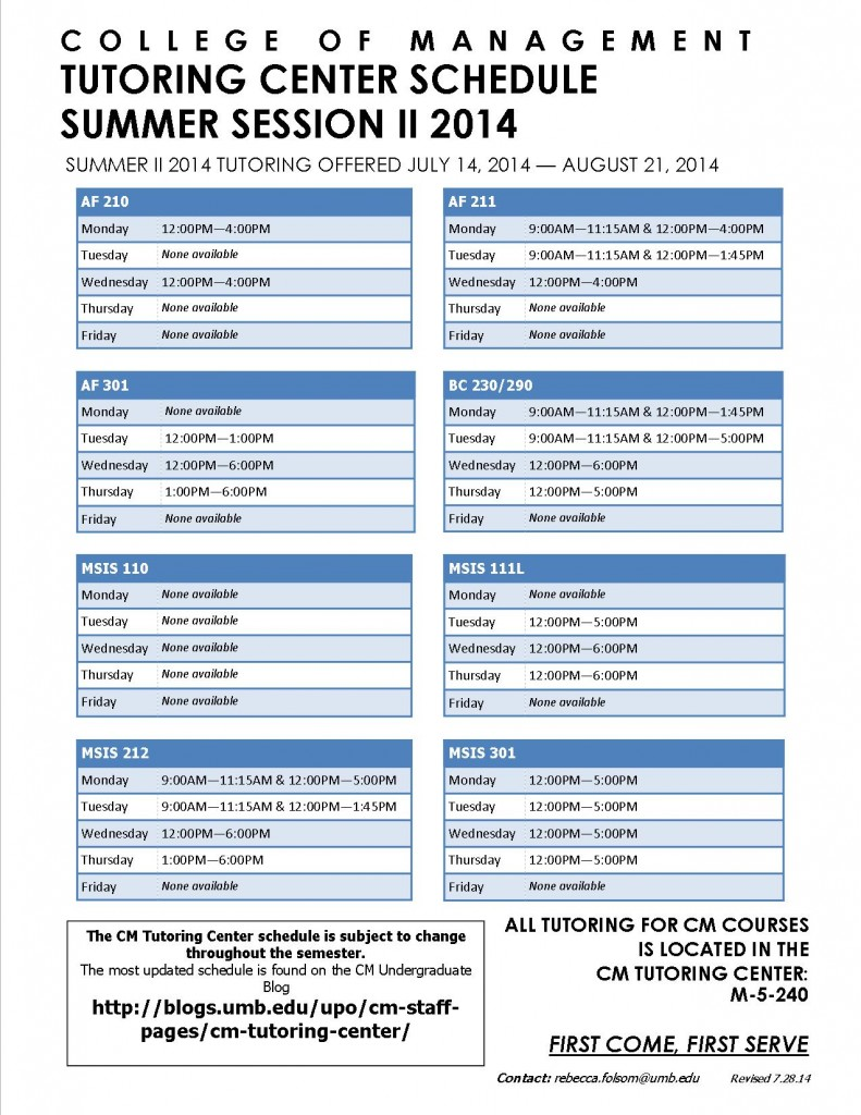 Summer Session II Poster 7.28.14