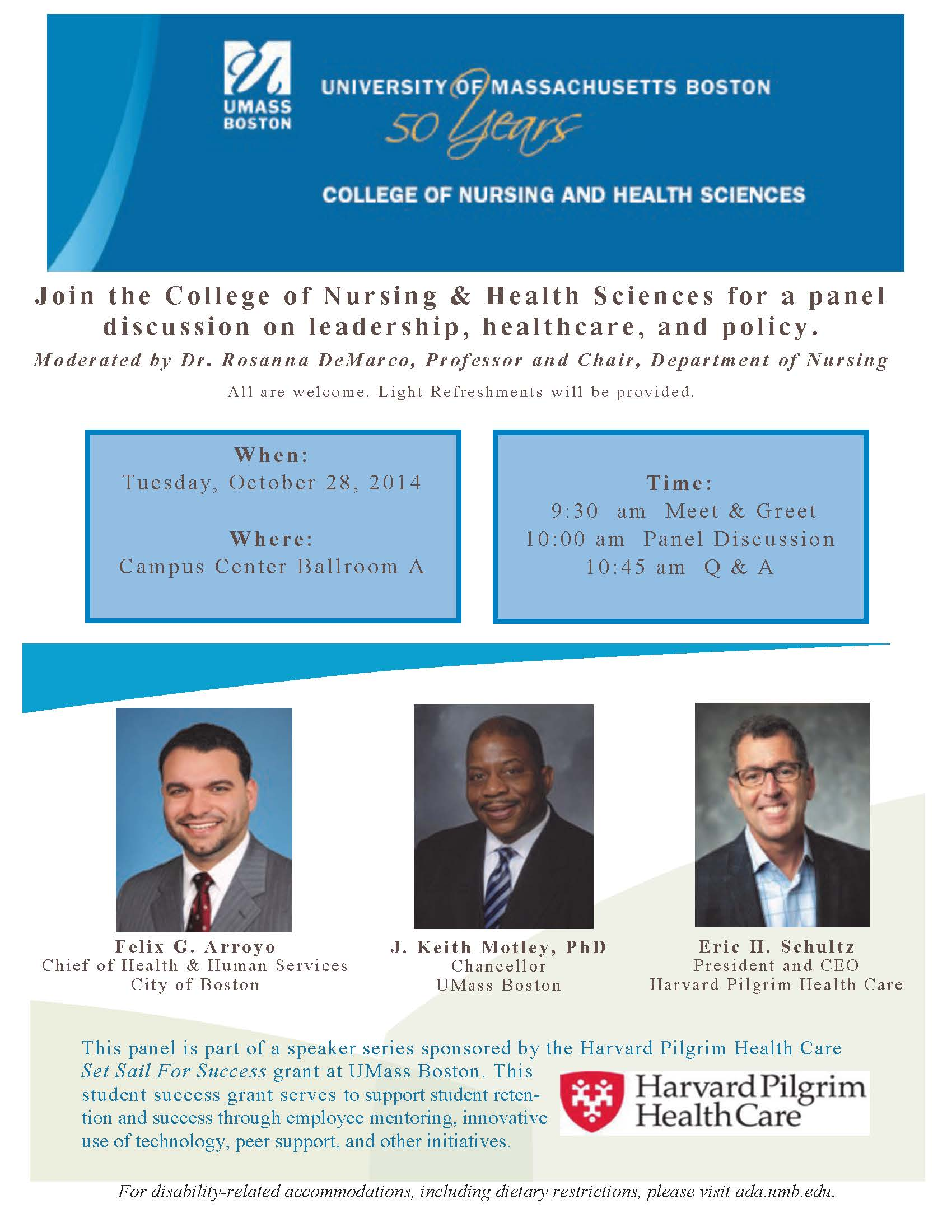 Panel Discussion on Leadership, Healthcare, and Policy