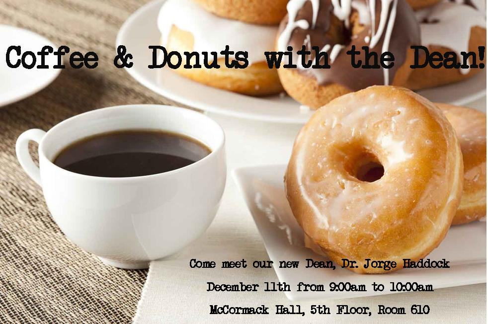 Coffee & Donuts with the Dean UG