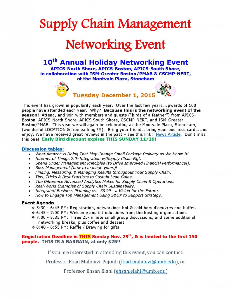 10th Annual Holiday Networking Event-Poster