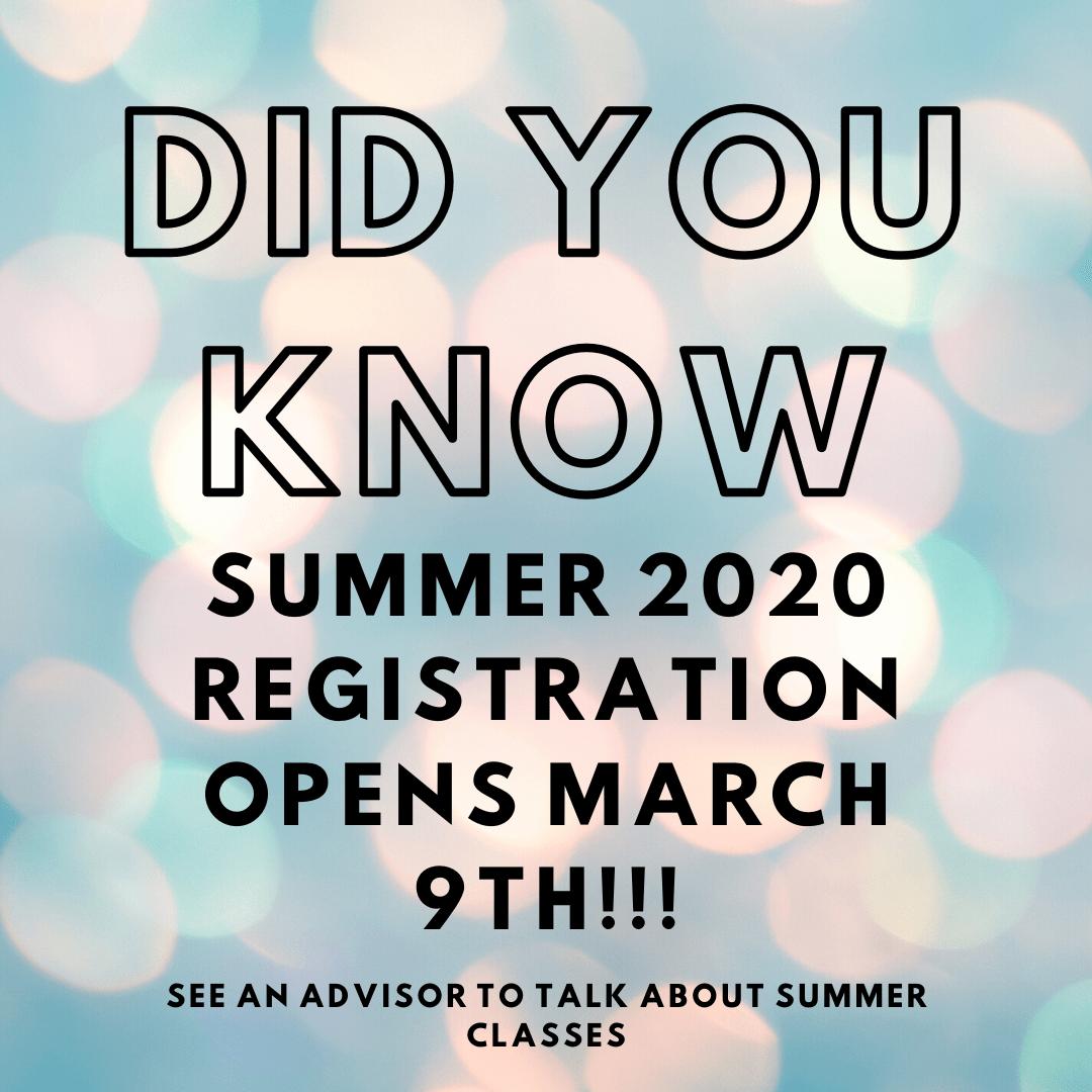 PROMO of summer registration info