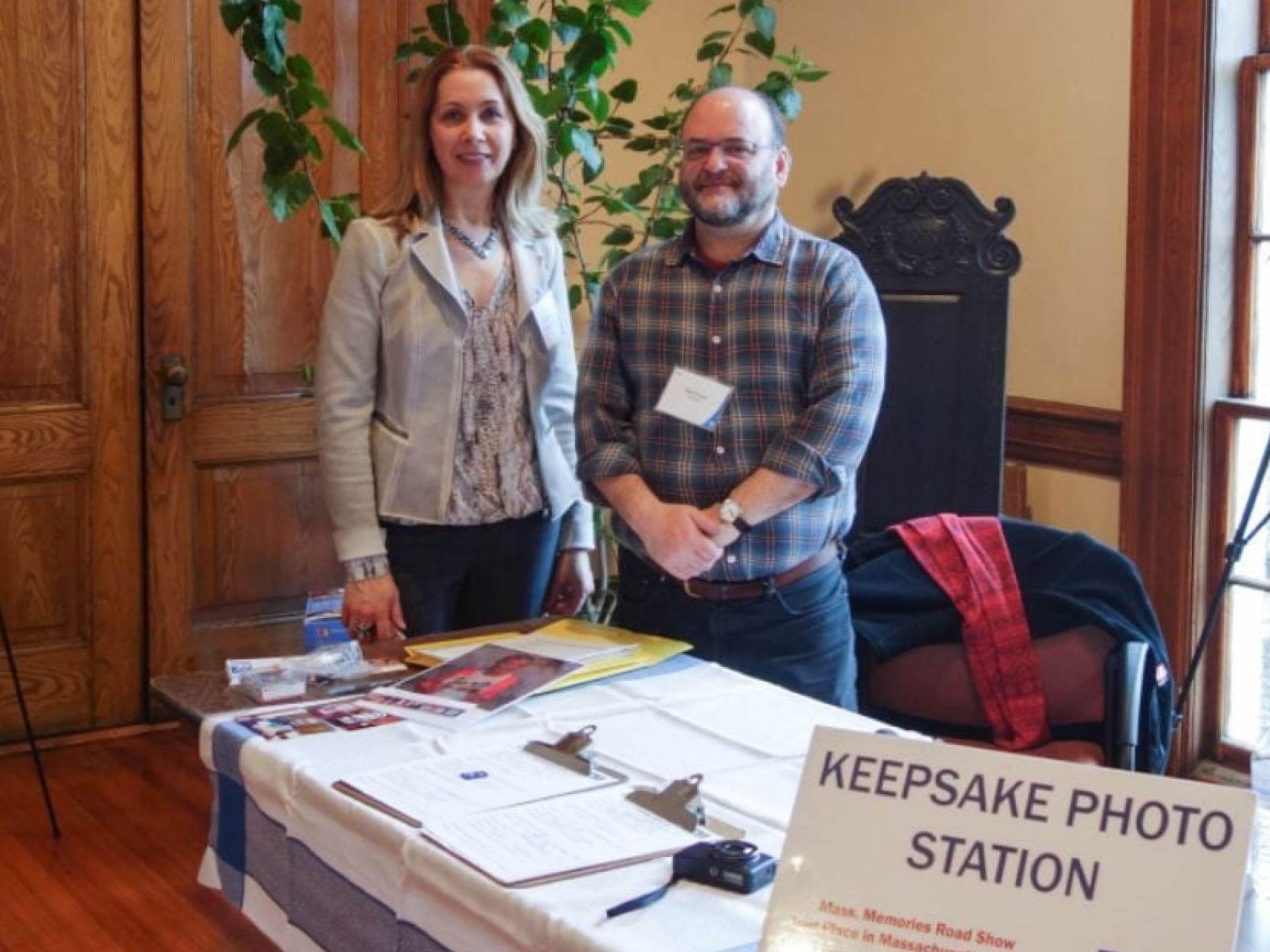Volunteers at the Keepsake Station