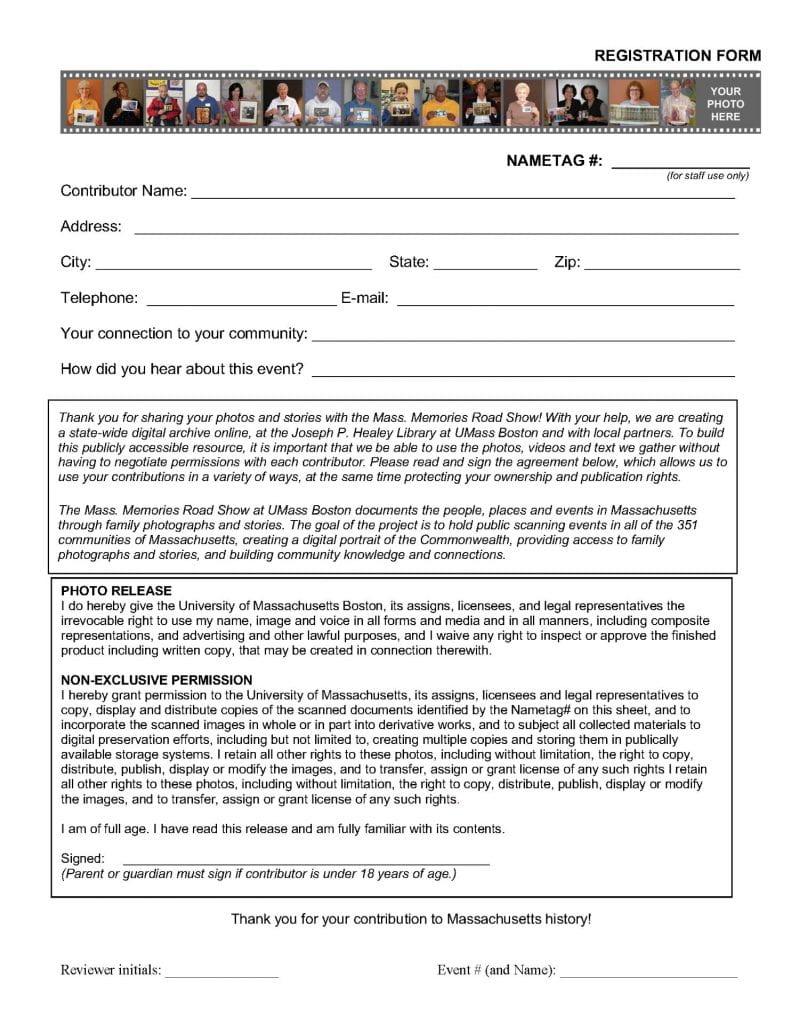 Image of sample MMRS registration form