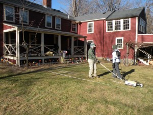 Walking transects at the Durant Kenrick house