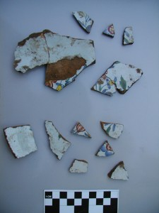 Fragments of a large plate