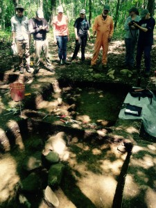 Dr. Mrozowski explains the importance of soil in interpreting archaeological sites.