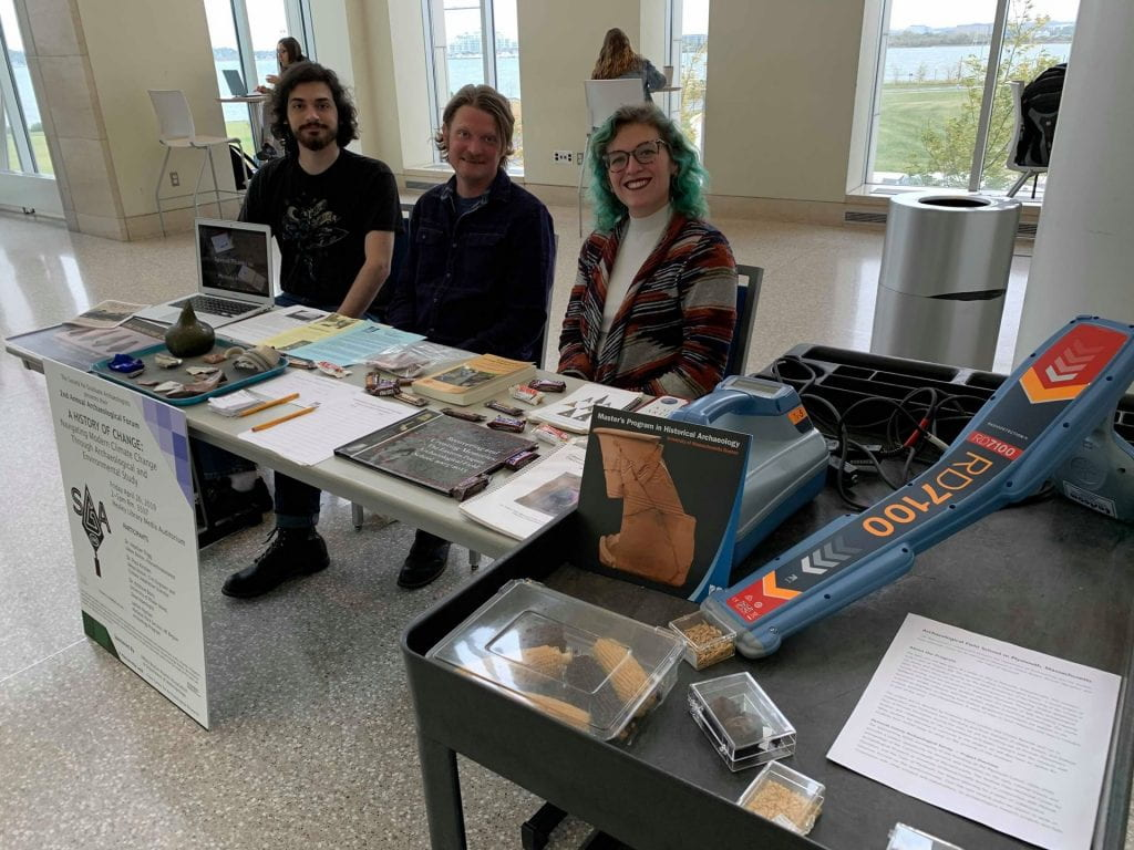SGA members tabling for Archaeology Month
