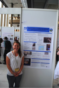 Associate Fellow, Amy Johnston, at her poster (Photo by Amy Johnston).