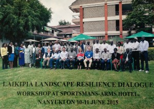 Laikipia Workshop, Horn of Africa, 2015 Metzger is 7th on the first row from left to right