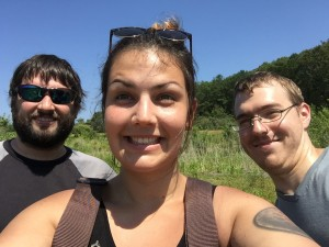 Tom, Kaley, and Sean enjoying field work, summer 2015