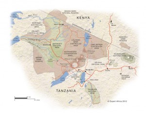 Map of Northern Tanzania