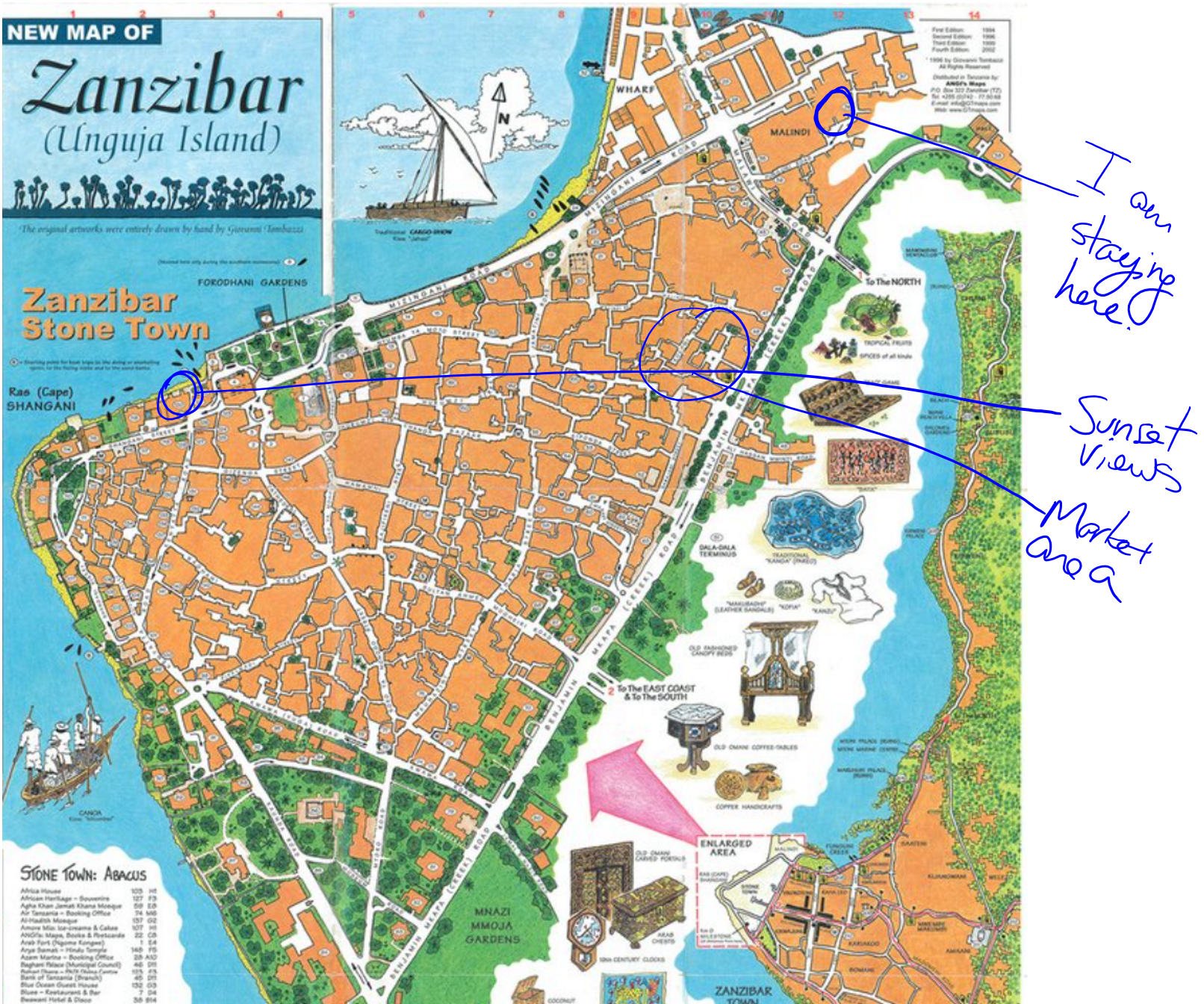 A map and orientation to Zanzibar The Adventures of an Early