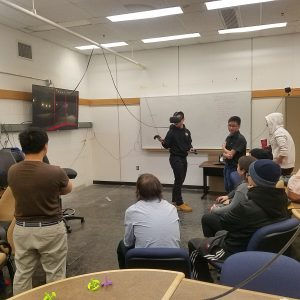 People trying VR