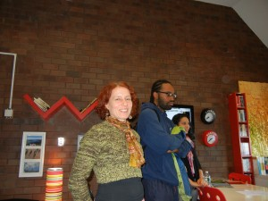 Professor Skufca visits the Portuguese Resource Center