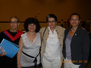 The Hispanic Studies Department celebrate convocation with María Conte.