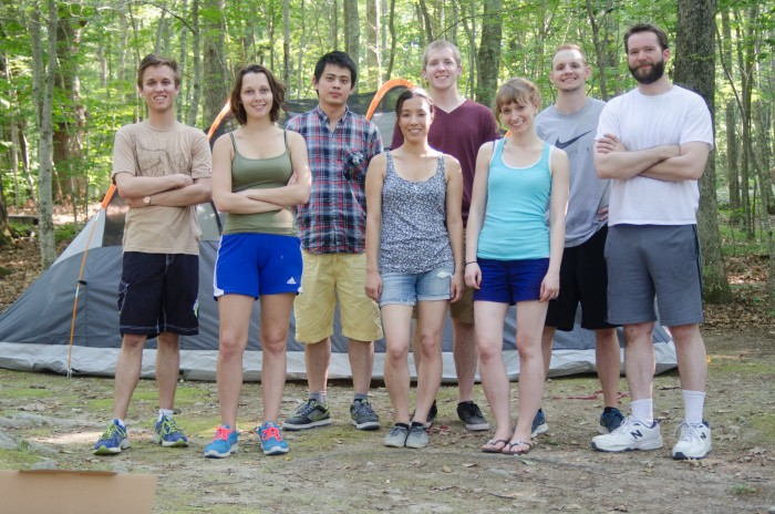The camping group