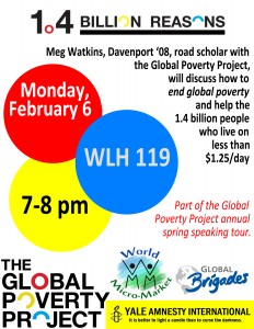 12.2.6 - Global Poverty Project Event Poster