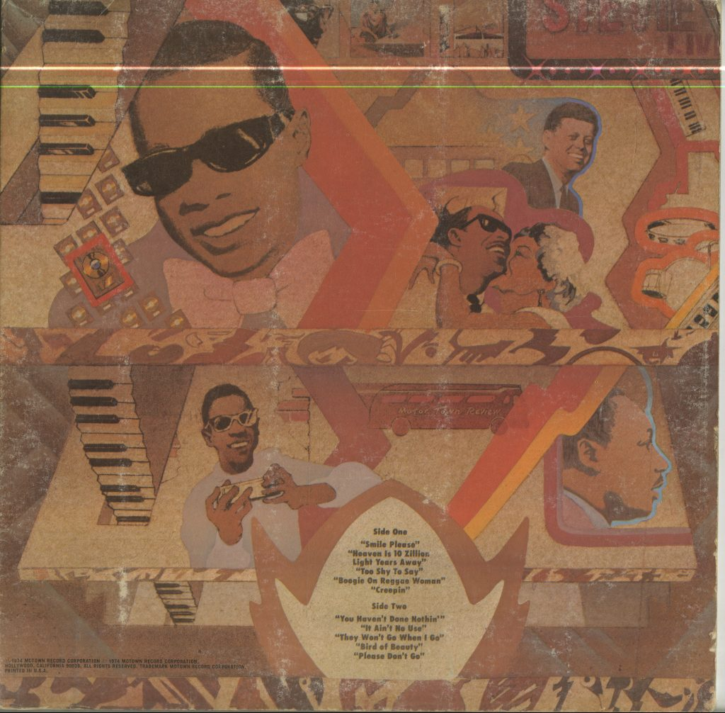 Album art and track listing for Stevie Wonder, Fulfillingness' First Finale
