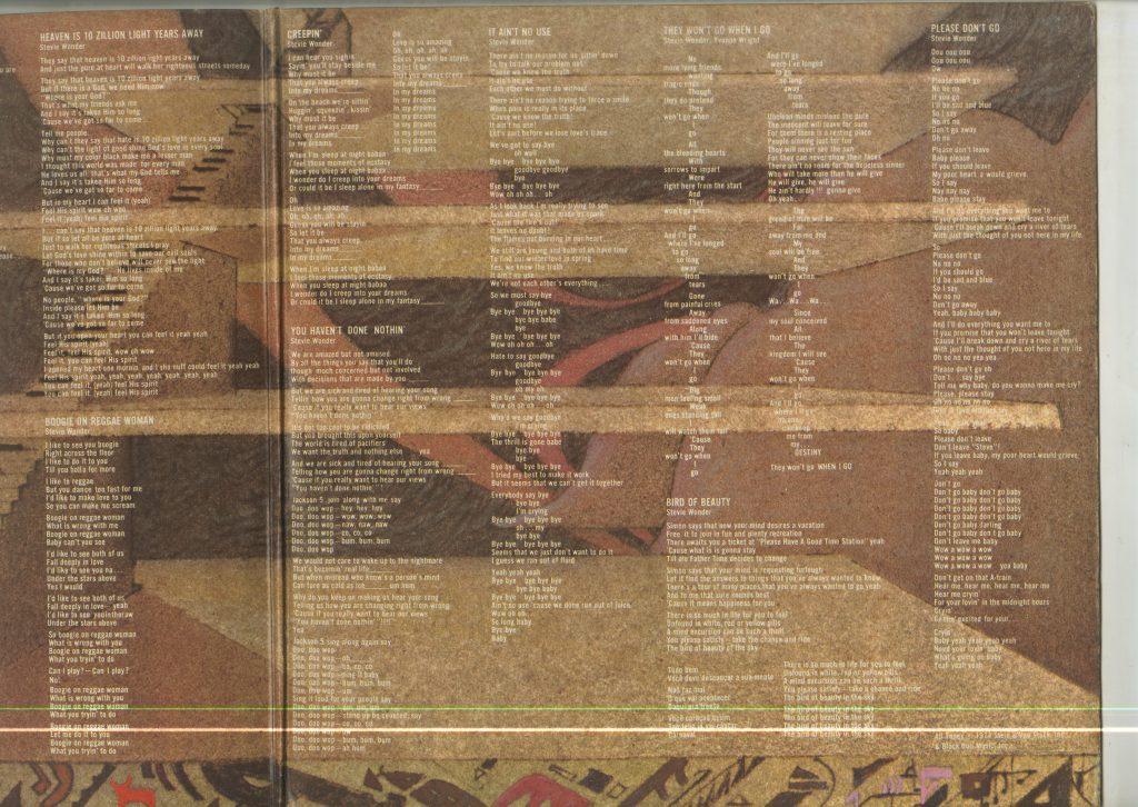 Album art and lyrics for Stevie Wonder, Fulfillingness' First Finale