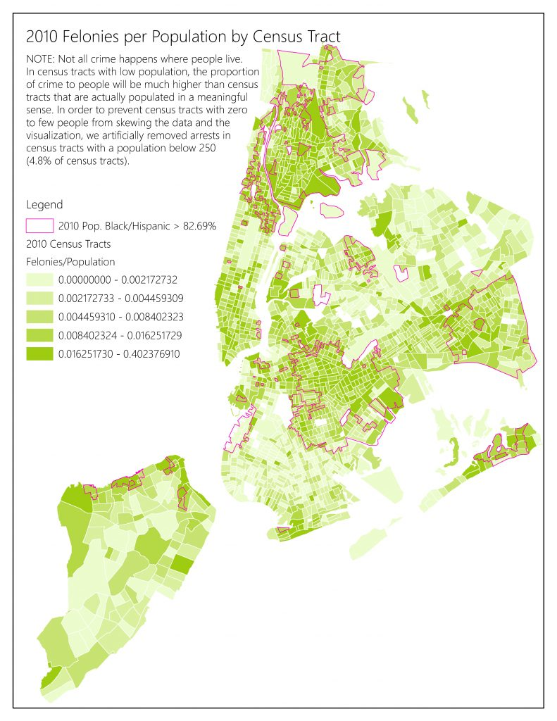 2010 Felonies by Population