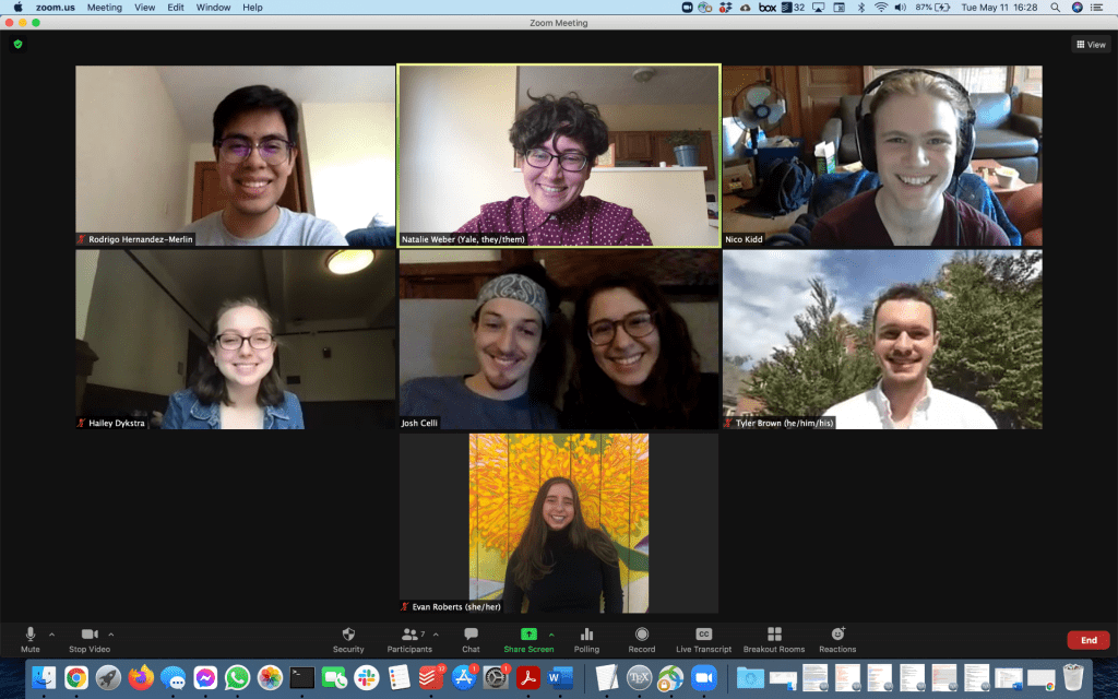 Screenshot from Zoom of all AY 2020-2021 lab members