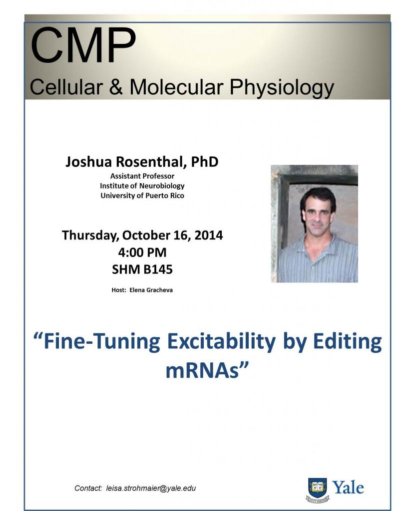 Joshua Rosenthal flyer