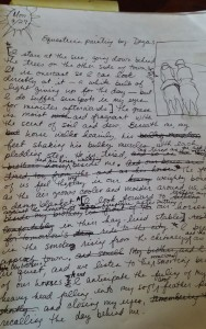 Reading a Degas painting from Darcy's journal