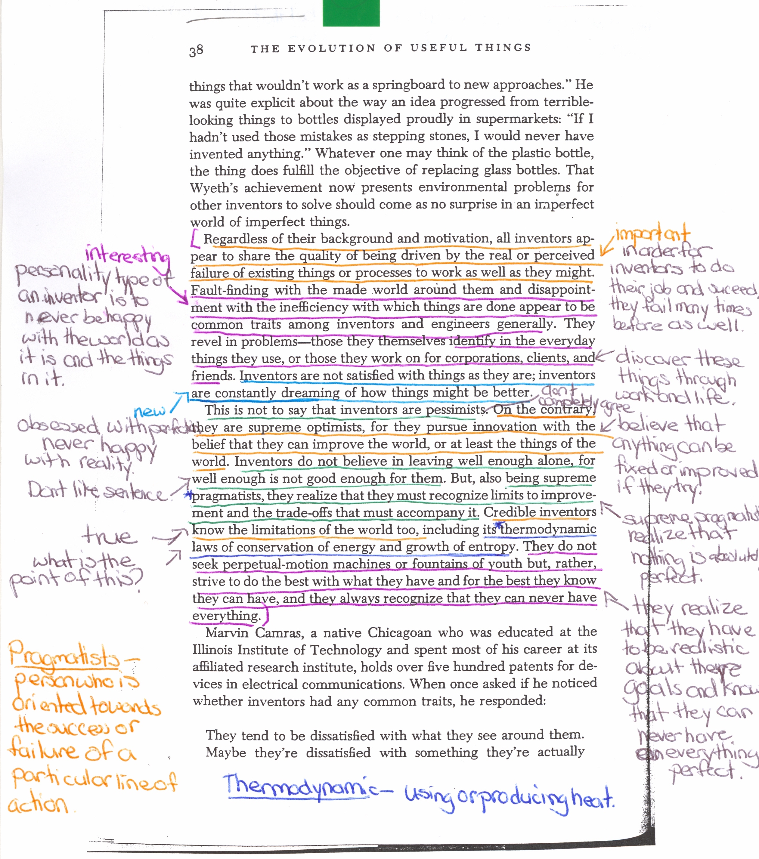 Annotating an essay