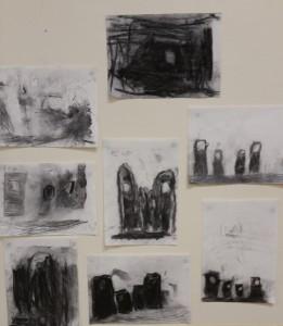 charcoal renderings