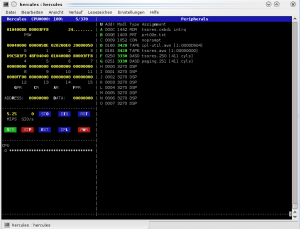 Screenshot of the Hercules emulator